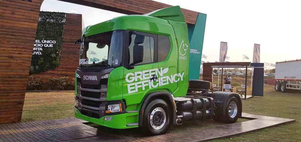 Scania presentó en Expoagro su camión a GAS -GNC y GNL-
