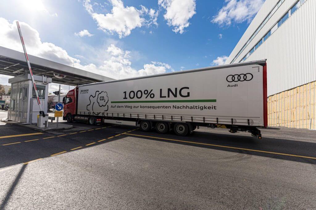 Audi sustituye el diésel por el gas en camiones de logística de Neckarsulm